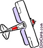Vector Clipart graphic  of a Cartoon biplane