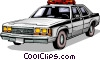 Police car Vector Clipart picture