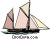 Vector Clipart picture  of a Sailboat