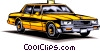 Vector Clipart illustration  of a Taxicab