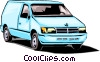 Delivery van Vector Clip Art graphic