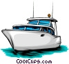 Vector Clip Art image  of a Pleasure boat