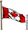 Vector Clipart image  of a Canadian flag