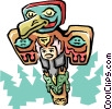 Vector Clipart graphic  of a Totem pole