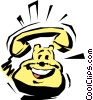Vector Clip Art image  of a Cartoon telephone