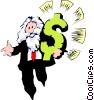 The Almighty Dollar Vector Clip Art image