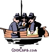 Vector Clipart graphic  of an All in the same boat