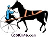 Putting the cart before the horse Vector Clipart illustration
