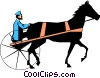 Vector Clip Art image  of a Putting the horse before the cart