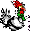 Vector Clipart picture  of a Cold turkey
