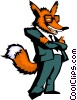 Vector Clipart illustration  of a Crazy like a fox