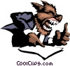 Its a dog-eat-dog world Vector Clipart image