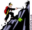Vector Clip Art graphic  of a Mountain climbing theme