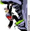 Mountain climbing theme Vector Clipart image