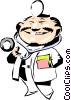 Vector Clipart graphic  of a Cartoon doctor