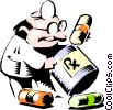 Cartoon doctor Vector Clipart illustration