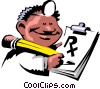 Vector Clip Art image  of a Cartoon doctor