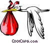 Vector Clipart image  of a Cartoon stork