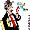 Football coach Vector Clipart picture
