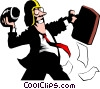 Cartoon football quarterback Vector Clip Art image