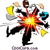 Vector Clip Art image  of a Cartoon football