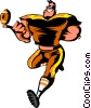 Vector Clip Art graphic  of a Cartoon football player