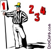 Cartoon football referee Vector Clipart picture