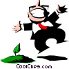Vector Clip Art graphic  of a Cartoon gardener