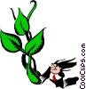 Vector Clip Art image  of a Cartoon gardener