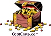 Vector Clipart graphic  of a Treasure chest