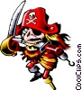 Cartoon pirate Vector Clipart illustration