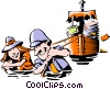 Vector Clipart picture  of a Cartoon safari