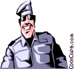 Vector Clipart graphic  of a Cartoon military man