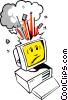 Vector Clip Art image  of a Cartoon computers