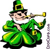 Cartoon leprechaun Vector Clipart picture