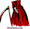 Cartoon grim reaper Vector Clipart illustration