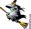 Vector Clipart graphic  of a Cartoon witch