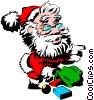 Santa Claus Vector Clipart graphic