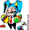 Vector Clip Art graphic  of a Cartoon Easter bunny
