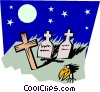 Vector Clipart graphic  of a Graveyard