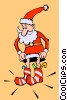 Vector Clip Art image  of a Santa Claus