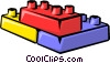 Toy blocks Vector Clipart illustration