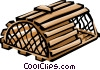 Lobster trap Vector Clip Art picture
