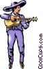 Guitar player Vector Clip Art graphic