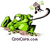Cartoon frog Vector Clipart picture