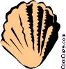 Vector Clipart graphic  of a Scallop shell