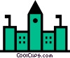 Vector Clip Art image  of a Government buildings
