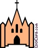 Vector Clip Art picture  of a Church symbol