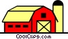 Vector Clip Art graphic  of a Barn