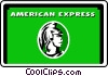 American Express card Vector Clipart illustration